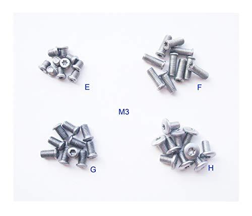 Pocket blade handle screws,folding knives hilt fasteners,shaft pivot pin rivets, pack of 40 pieces (M3)