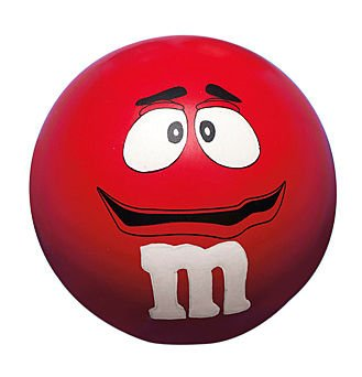 M&M's Stress Relief Ball - Red by EB Brands (Image #1)