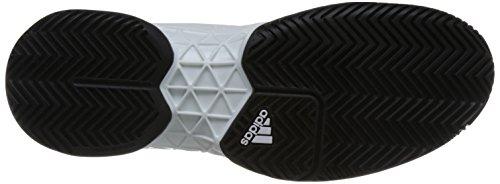 Adidas Mens Barricade 2018, Bianco / Nero Bianco