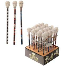 1 x Fun Skull Pencil and Eraser Set Not Available