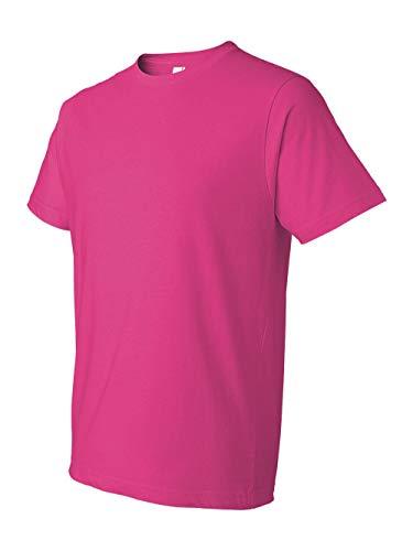Anvil Men's Lightweight Tee, Hot Pink, Large -