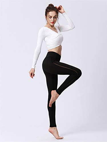 7a25eb829498f Amazon.com : DAYIYANG Special Design Women's High Waist Non See-Through  Fabric Power Flex Workout Running Leggings : Sports & Outdoors