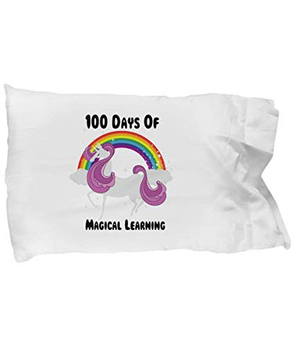 Cute Pillow Covers Design Unicorn 100th Day of School 100 Days for Girls Gift Pillow Cover Ideas]()
