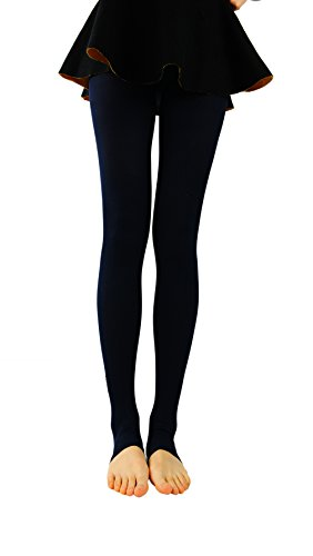 Bonas Women's Mustache Pattern Stirrup Leggings-Navy (Mustache Pantyhose)