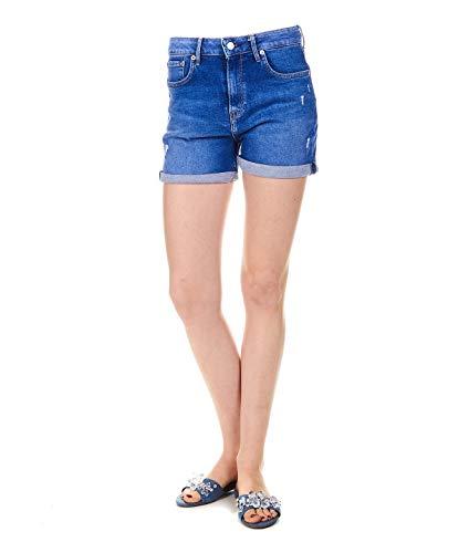 (Pepe Jeans Women's Pl800848re3000 Blue Cotton Shorts)