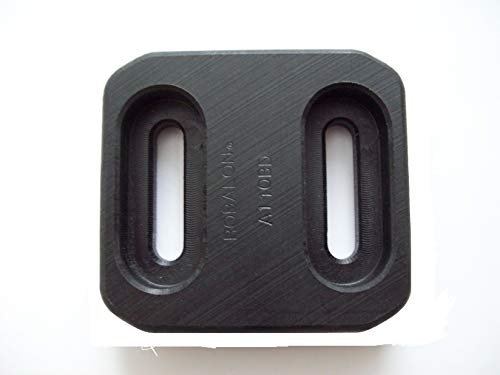 Robalon A110BD Composite Skid Shoe, Replaces Briggs/John Deere 780061, M118098, 1740718AYP, Black