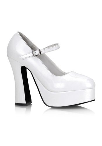 (Pleaser Women's Dolly-50,White Patent,8 M)