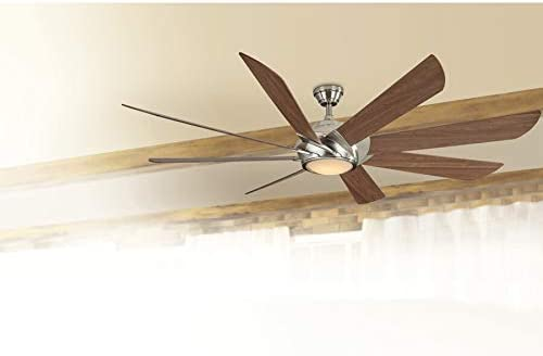 Harbor Breeze Hydra 70 Inch Brushed Nickel Indoor Ceiling Fan