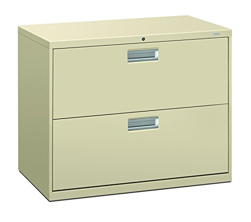 The HON Company H682.L.L HON682LL HON 2-Drawer Cabinet-600 Series Lateral Legal or Letter File Cabinet), 2-Drawer Putty