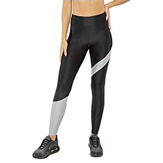 Koral Activewear Women's Appeal Energy High Rise Leggings (Black/Mist, Large)