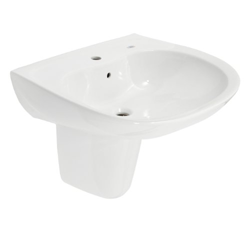 TOTO LHT242G#01 Prominence Lavatory and Shroud with Single Hole, Cotton (Cotton Prominence Bathroom Sink)