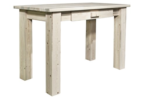 Timber Log 1 Drawer (Montana Woodworks Homestead Collection Writing Desk, Ready to Finish)