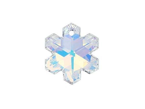 6704 Snowflake Pendant - Swarovski Crystal, 6704 Snowflake Pendant 20mm, Crystal AB, Wholesale Packs | Pack of 2