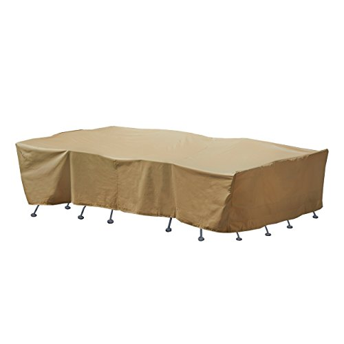 Seasons Sentry CVP01429 Large Rectangle Table and Chair Set Cover, Sand by Seasons Sentry