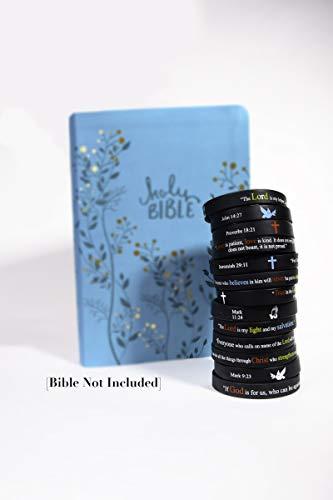 "Scripture Bracelets for Women and Men  (13-Pack) ""Power of Faith"" Wristbands by:Bel Amour Enterprise by Bel Amour Enterprise (Image #1)"