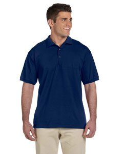 - Gildan Mens 6.1 oz. Ultra Cotton Jersey Polo G280 -NAVY XL