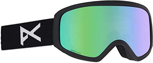(Anon Women's Insight Goggle with Spare Lens, Black Frame Green Solex Lens W20 )
