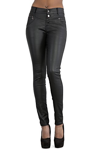Lustychic With Jeans Buttons Donna Black 3 7w7Trtqx