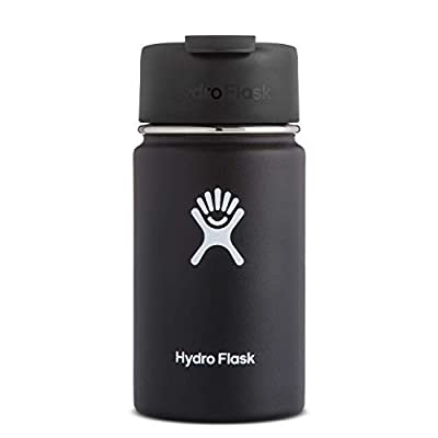 Hydro Flask Travel Coffee Flask   Stainless Steel & Vacuum Insulated   Wide Mouth with Hydro Flip Cap   Multiple Sizes & Colors