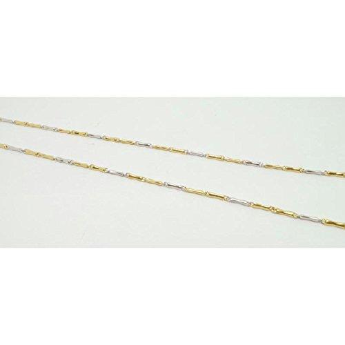 Collier fantaisie bicolore mixte cl921565or jaune