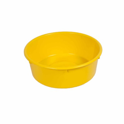 Fortiflex Mini Feed Pan for Dogs and Horses, 5-Quart, Yellow