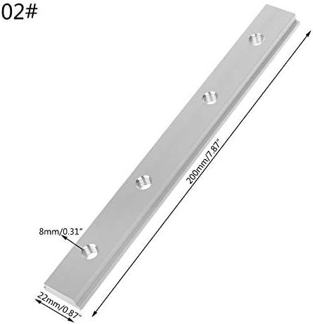 Nologo KUQIQI M6 M8 200mm Slide Slab T Spur Slot for T-Nut Mitre Spur Fixture Slot Router Tabelle Holzbearbeitungswerkzeuge,Hohe Qualität (Farbe : M8)