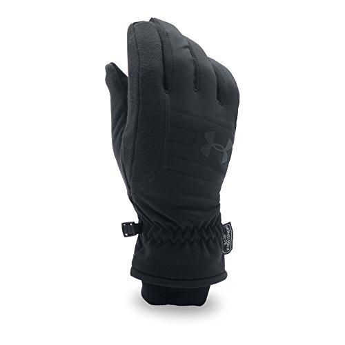 Under Armour Men's No Breaks GORE-TEX WINDSTOPPER Gloves, Black (001)/Black, Small/Medium
