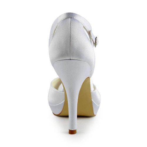 Bianco donna col Wedding Jia tacco 37038 Scarpe Jia Sposa Scarpe Faxw6z8x