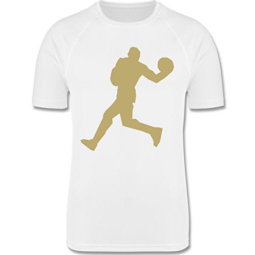 Sport Kind - Basketball - 140 (9-11 Jahre) - Weiß - F350K - atmungsaktives Laufshirt / Funktionsshirt für Mädchen und Jungen