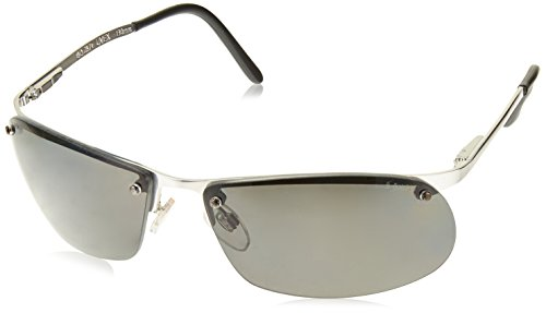 Uvex S4100 Polarized Safety Eyewear, Brushed Silver Metal Frame, Gray Polarized Hardcoat (Frame Gray Polarized Lens)