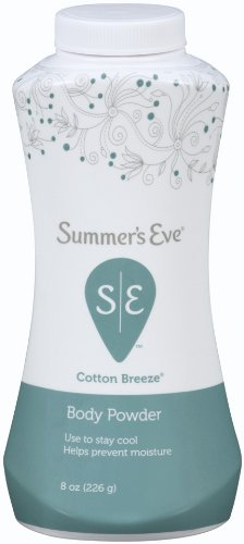 Summer's Eve Body Powder | Cotton Breeze | 8 oz | Pack of 6 | Helps Prevent Moisture
