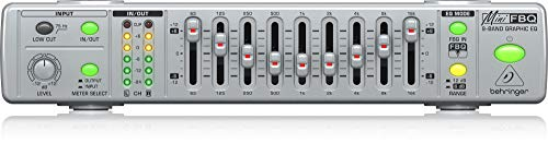 Behringer MiniFBQ FBQ800 Ultra-Compact 9-Band Graphic Equalizer with FBQ Behringer Ultra Compact Microphone