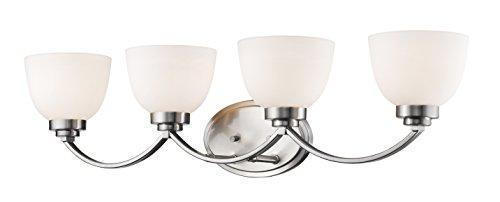 Z-Lite 443-4V-BN 4 Light Vanity, Brushed Nickel