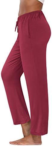 fitglam Women's Lounge Pants, Loose High Waist Yoga Pants, Drawstring Pajama Bottoms with Poc