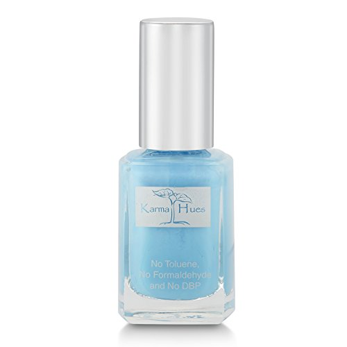 Karma Organic Natural Nail Polish-Non-Toxic Nail Art, Vegan and Cruelty-Free Nail Paint (Benoit Blue) -