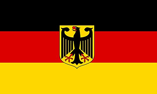 German State Flag - Germany with Eagle Flag from SoCal Flags 3x5 Foot Polyester Weather Resistant Durable - 100d Material Not See Thru Like Other Brands