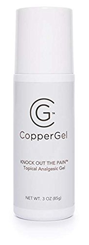 CopperGel Roll-On Topical Analgesic Gel Copper Infused Clinically Proven for Arthritis, Joint & Muscle Pain Relief