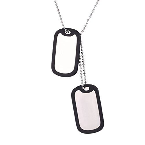(U7 Custom Engraved Medical Alert ID Dog Tag Necklace Pendant with Stainless Steel Chain 23