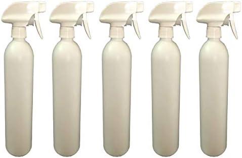 Big Bargain Store プラスチックスプレーボトル 洗浄液用 防漏型ミスト空水ボトル 水噴霧器 植物園用 (白) 空のスプレーボトル 5PCS 500ml White 26*6.6cm