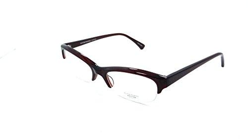 Oliver Peoples Rx Eyeglasses Frames Boheme SI 51x17 Dark Burgundy Made in - Japan Glasses In Made