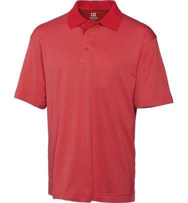 Drytec Birdseye Golf Polo (Cutter & Buck BCK05561 Mens Cb Drytec Birdseye Polo, Solid Cardinal Red-2XT)