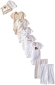 Gerber Baby-Girls 9-Piece Onesies Bodysuit, Pant and Cap Infant-and-Toddler-Pants-Clothing-Sets