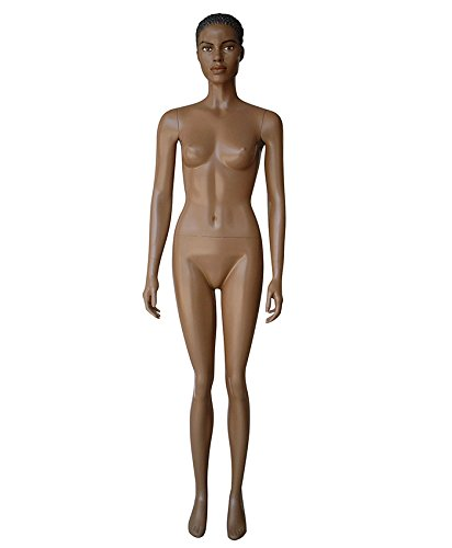 AMKO Donna Female Mannequin Arms by Side, Moveable Head & Arms, Slightly Detailed Fingers, Abstract', Durable, Easy to Assemble, Fully Recyclable Made of Environmentally Friendly Material