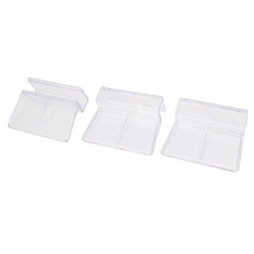 De plástico cubierta de cristal del acuario pecera Clip Holder Soporte 3 piezas Borrar - - Amazon.com