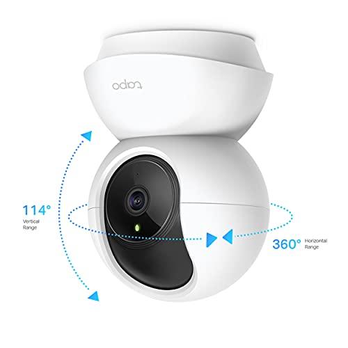 TP-LINK Tapo Wi-Fi Pan/Tilt Smart Security Camera, Indoor CCTV, 360° Rotational Views, Works with Alexa,Google, No Hub…