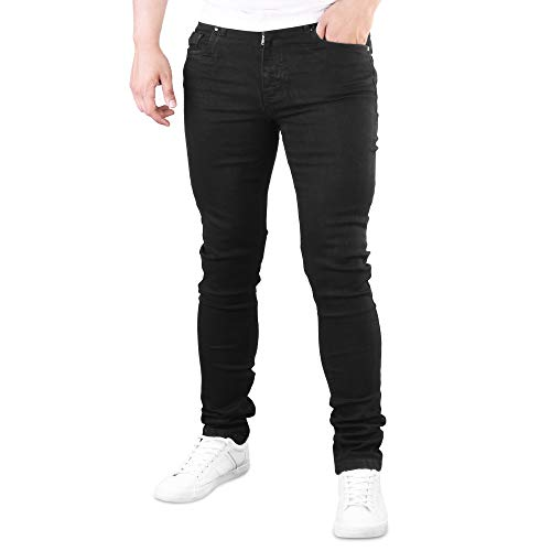 6e4f68ea34d24 Evelyn Living Mens Flex Denim Super Stretch Skinny Slim Fit Jeans Trouser  All Waist   Length  Amazon.co.uk  Clothing