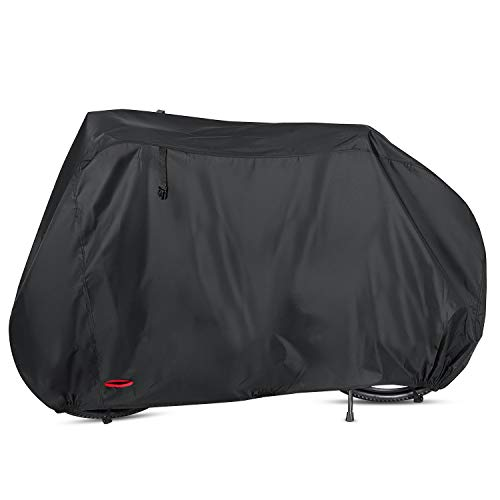 Heavy Duty Rain Cover - Waterproof Bike Cover 29 Inch Heavy Duty 210D Oxford Bicycle Cover with Double stitching & Heat Sealed Seams, Protection from UV Rain Snow Dust for Mountain Road Electric Bike Hybrid Outdoor Storage
