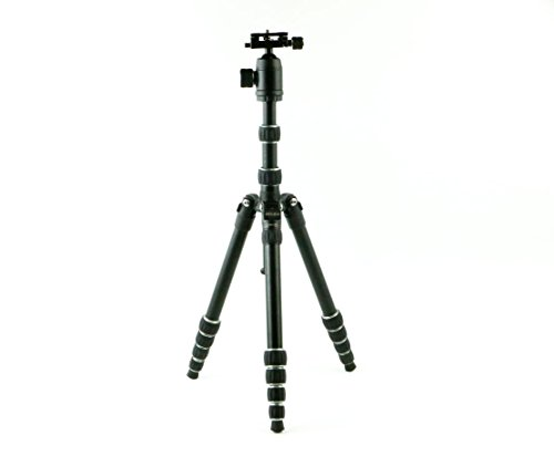 Dolica TX570DS Ultra Compact Tripod with Professional Ball Head and Built-In Monopod (Black)