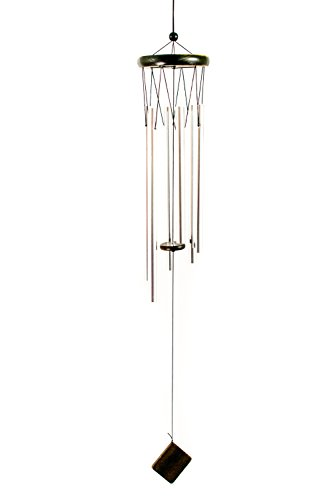 SpruceBay Asian Hanging Indoor and Outdoor Aluminium Wood Wind Chime, Soft and Relaxing Tones Sounds Effect for Patio, Garden, Terrace, Yard, Balcony, Home and ()