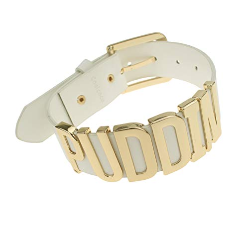 Coolcoco Adjustable Fashion High Neck White Belt Letter